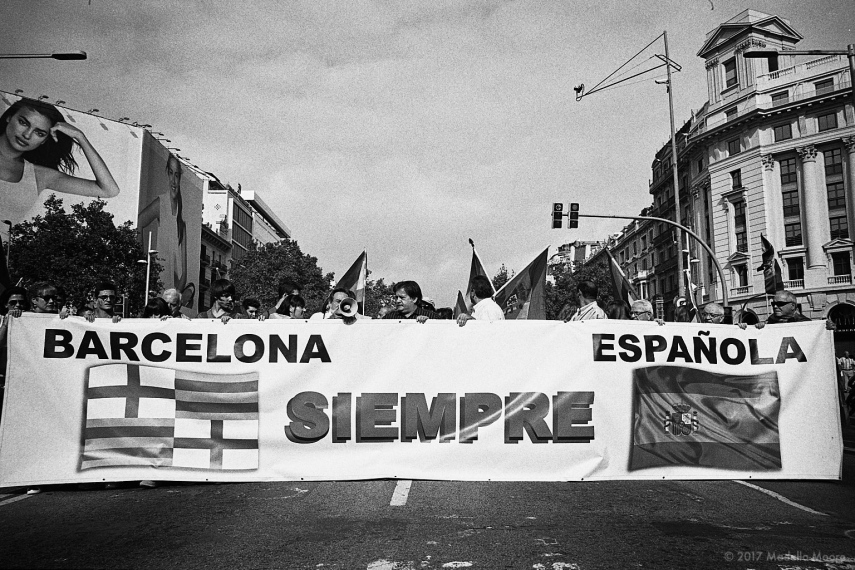 Pro-union protest march, Barcelona.