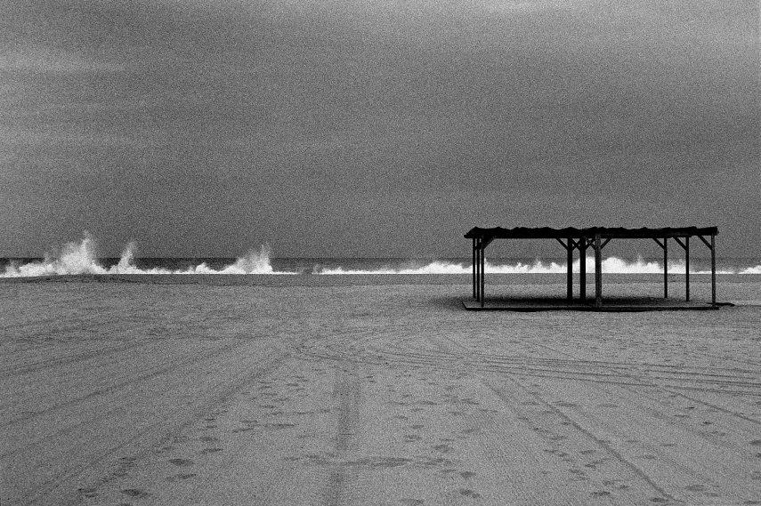 Stormy beach scene, Masnou.