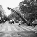Repairing roads damaged byfire
